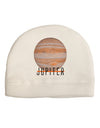 Planet Jupiter Earth Text Adult Fleece Beanie Cap Hat
