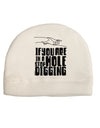 If you are in a hole stop digging Child Fleece Beanie Cap Hat Tooloud
