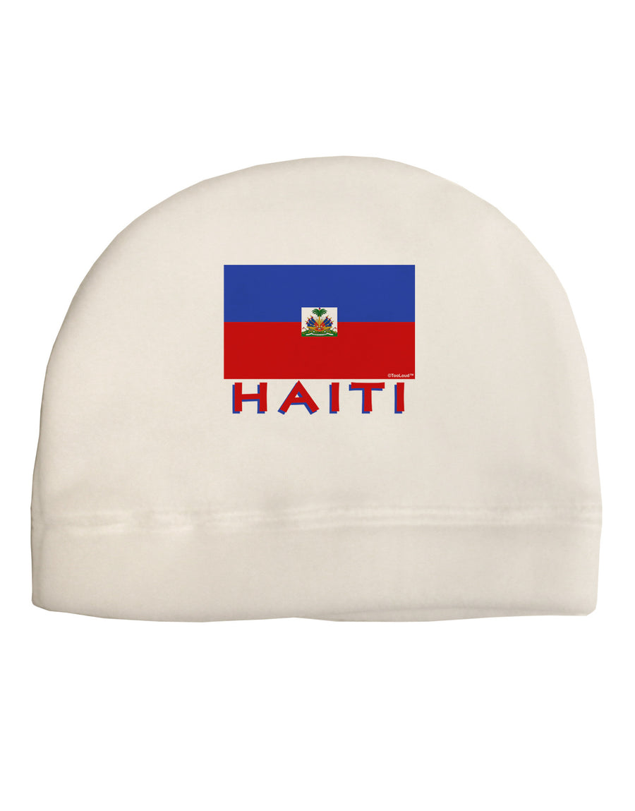 Haiti Flag Child Fleece Beanie Cap Hat
