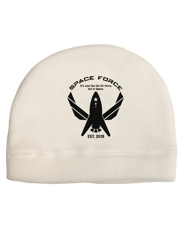 Space Force Funny Anti Trump Child Fleece Beanie Cap Hat by TooLoud