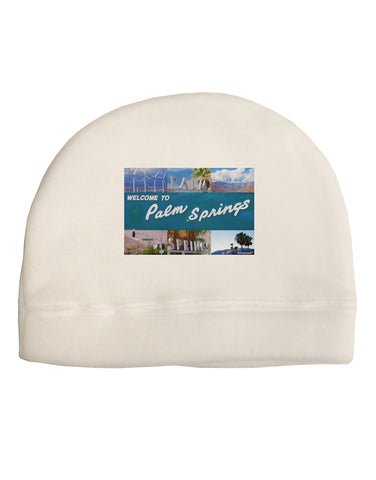 TooLoud Welcome to Palm Springs Collage Child Fleece Beanie Cap Hat