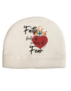 Faith Fuels us in Times of Fear  Child Fleece Beanie Cap Hat Tooloud