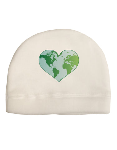TooLoud World Globe Heart Child Fleece Beanie Cap Hat