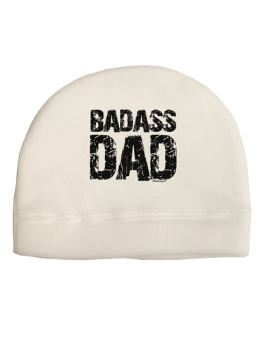 Badass Dad Child Fleece Beanie Cap Hat by TooLoud