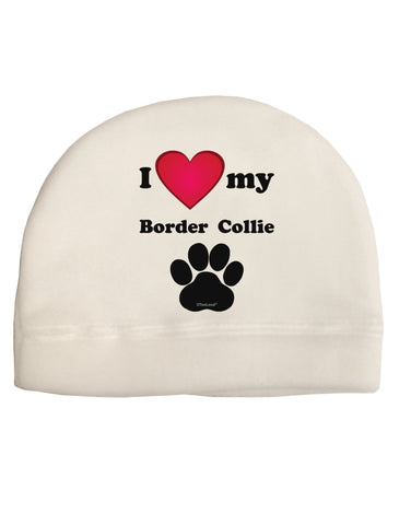 I Heart My Border Collie Child Fleece Beanie Cap Hat by TooLoud