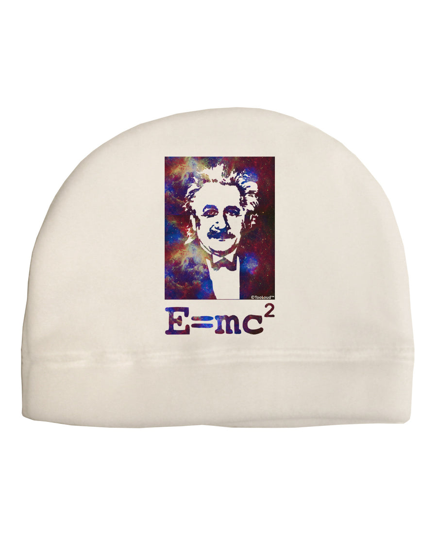 Cosmic Galaxy Einstein - E equals mc2 Child Fleece Beanie Cap Hat by TooLoud