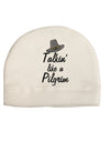 Talkin Like a Pilgrim Child Fleece Beanie Cap Hat Tooloud