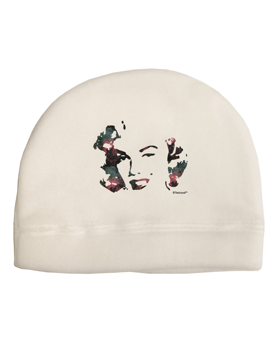 Marilyn Monroe Galaxy Design and Quote Adult Fleece Beanie Cap Hat by TooLoud