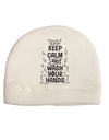 Keep Calm and Wash Your Hands Child Fleece Beanie Cap Hat Tooloud