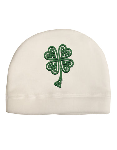 3D Style Celtic Knot 4 Leaf Clover Adult Fleece Beanie Cap Hat