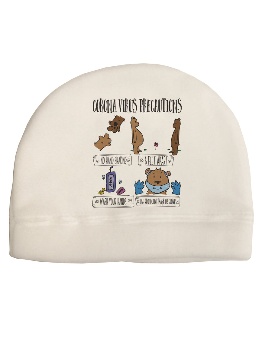 Corona Virus Precautions  Child Fleece Beanie Cap Hat Tooloud