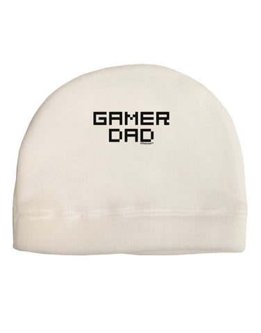 Gamer Dad Child Fleece Beanie Cap Hat by TooLoud
