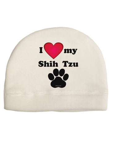 I Heart My Shih Tzu Child Fleece Beanie Cap Hat by TooLoud