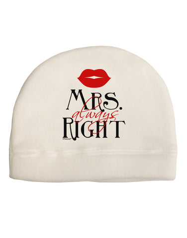 - Mrs Always Right Adult Fleece Beanie Cap Hat