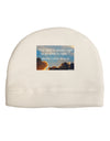 The Time Is Always Right Child Fleece Beanie Cap Hat
