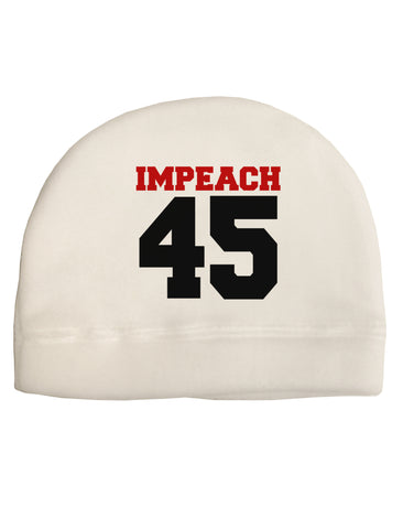 Impeach 45 Child Fleece Beanie Cap Hat by TooLoud