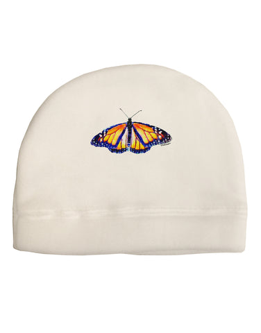 TooLoud Watercolor Monarch Butterfly Child Fleece Beanie Cap Hat