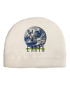 Planet Earth Text Child Fleece Beanie Cap Hat