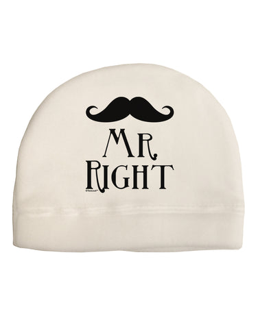 - Mr Right Adult Fleece Beanie Cap Hat