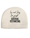 I'm not Shy I'm Just Social Distancing Child Fleece Beanie Cap Hat Too