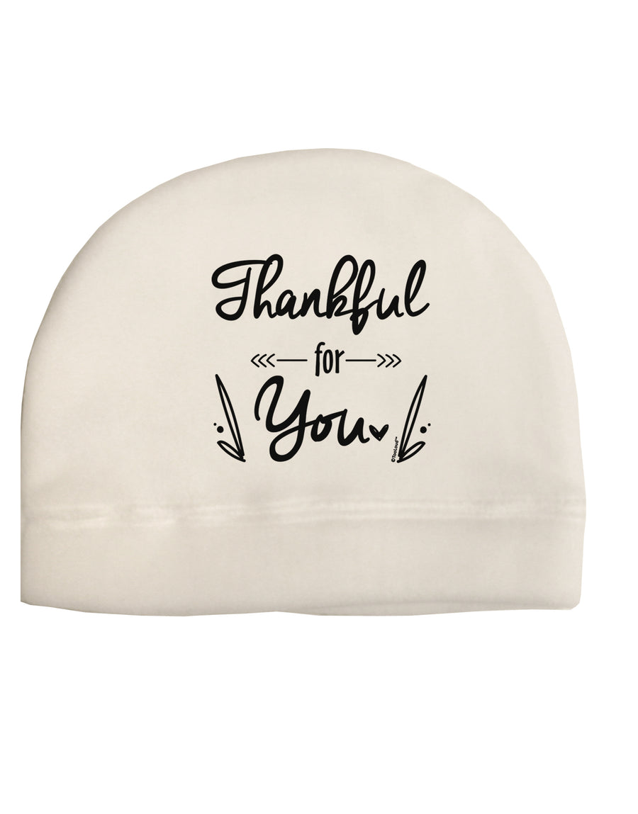 Thankful for you Child Fleece Beanie Cap Hat Tooloud