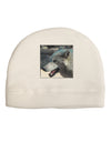 TooLoud White Wolf Face Adult Fleece Beanie Cap Hat