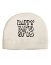 Happy Mardi Gras Text 2 BnW Child Fleece Beanie Cap Hat