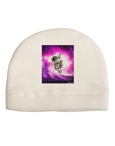 Astronaut Cat Adult Fleece Beanie Cap Hat