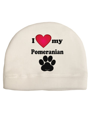I Heart My Pomeranian Child Fleece Beanie Cap Hat by TooLoud