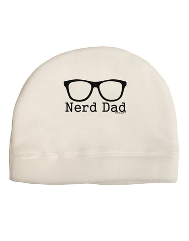 Nerd Dad - Glasses Child Fleece Beanie Cap Hat by TooLoud