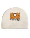 Cute Squirrels - I'm Nuts About You Child Fleece Beanie Cap Hat by TooLoud