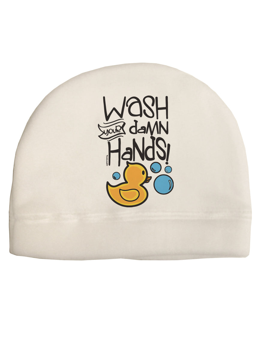 Wash your Damn Hands Child Fleece Beanie Cap Hat Tooloud