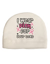 Personalized I Wear Pink for -Name- Breast Cancer Awareness Adult Fleece Beanie Cap Hat