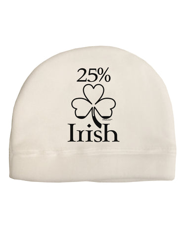 25 Percent Irish - St Patricks Day Adult Fleece Beanie Cap Hat by TooLoud