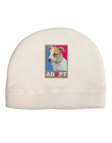 Adopt Cute Puppy Poster Adult Fleece Beanie Cap Hat