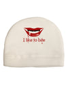 Like to Bite Adult Fleece Beanie Cap Hat
