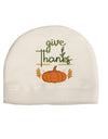 Give Thanks Child Fleece Beanie Cap Hat Tooloud