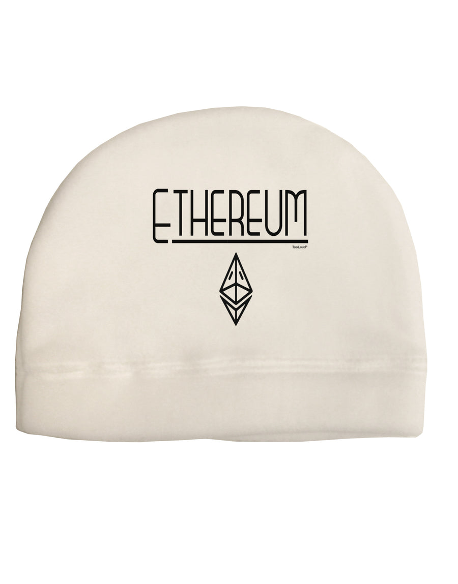 Ethereum with logo Child Fleece Beanie Cap Hat Tooloud
