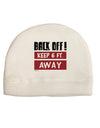 BACK OFF Keep 6 Feet Away Child Fleece Beanie Cap Hat Tooloud