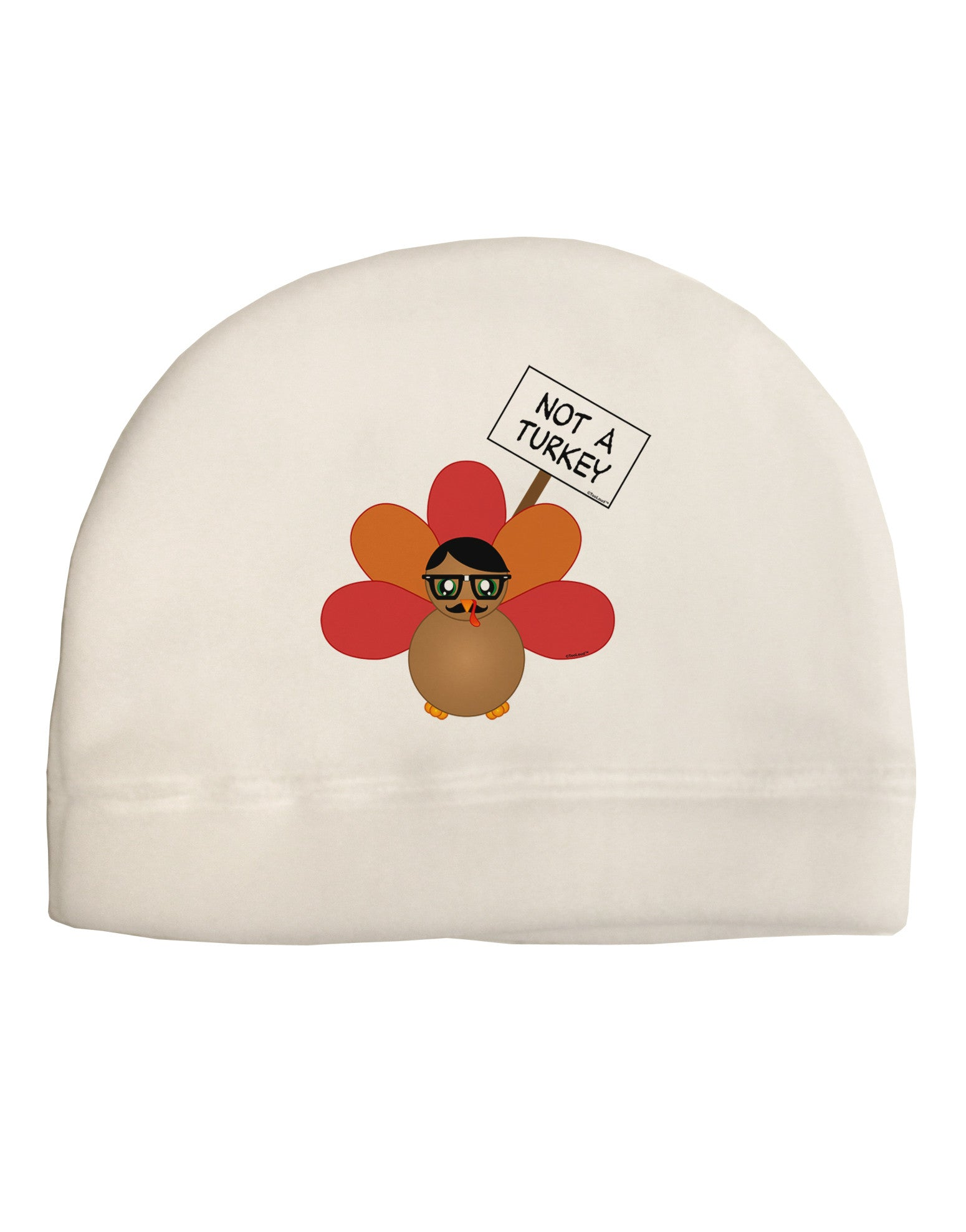 94d2446e9836c Thanksgiving Turkey in Disguise Adult Fleece Beanie Cap Hat by TooLoud - Davson  Sales