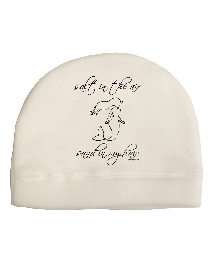 Salt in the Air Sand in My Hair - Mermaid Child Fleece Beanie Cap Hat