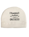 Thankful grateful oh so blessed Child Fleece Beanie Cap Hat Tooloud