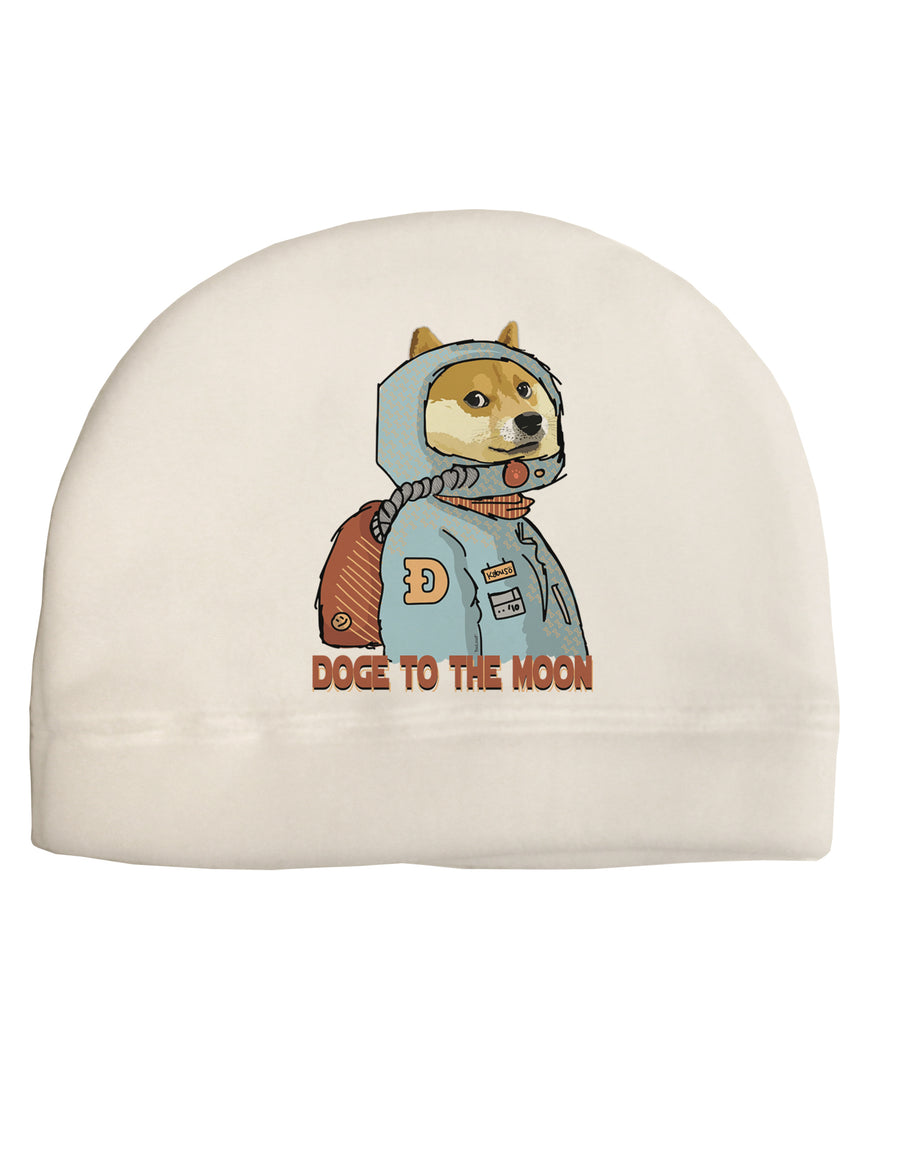 Doge to the Moon Child Fleece Beanie Cap Hat Tooloud