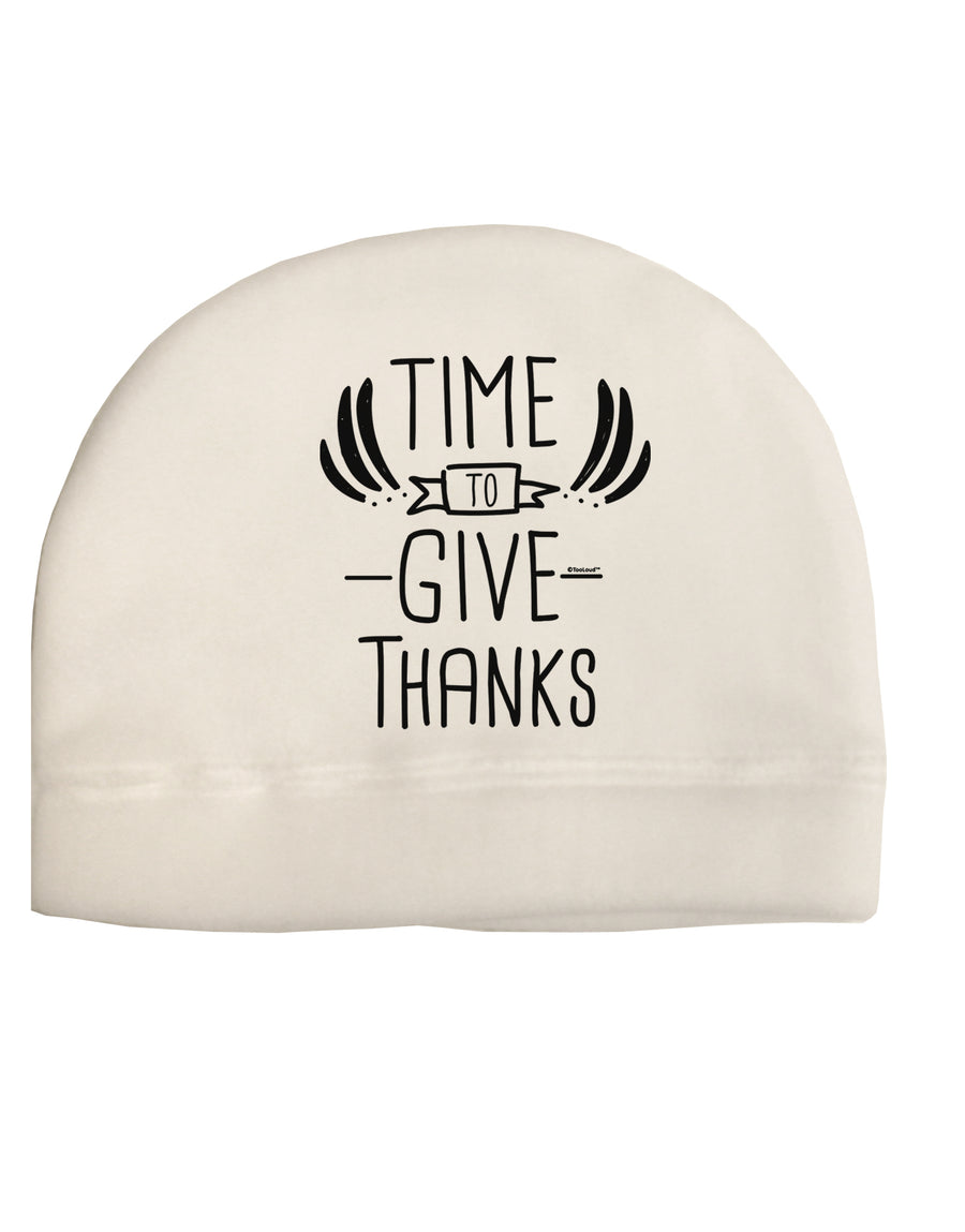 Time to Give Thanks Child Fleece Beanie Cap Hat Tooloud