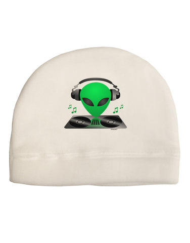Alien DJ Adult Fleece Beanie Cap Hat