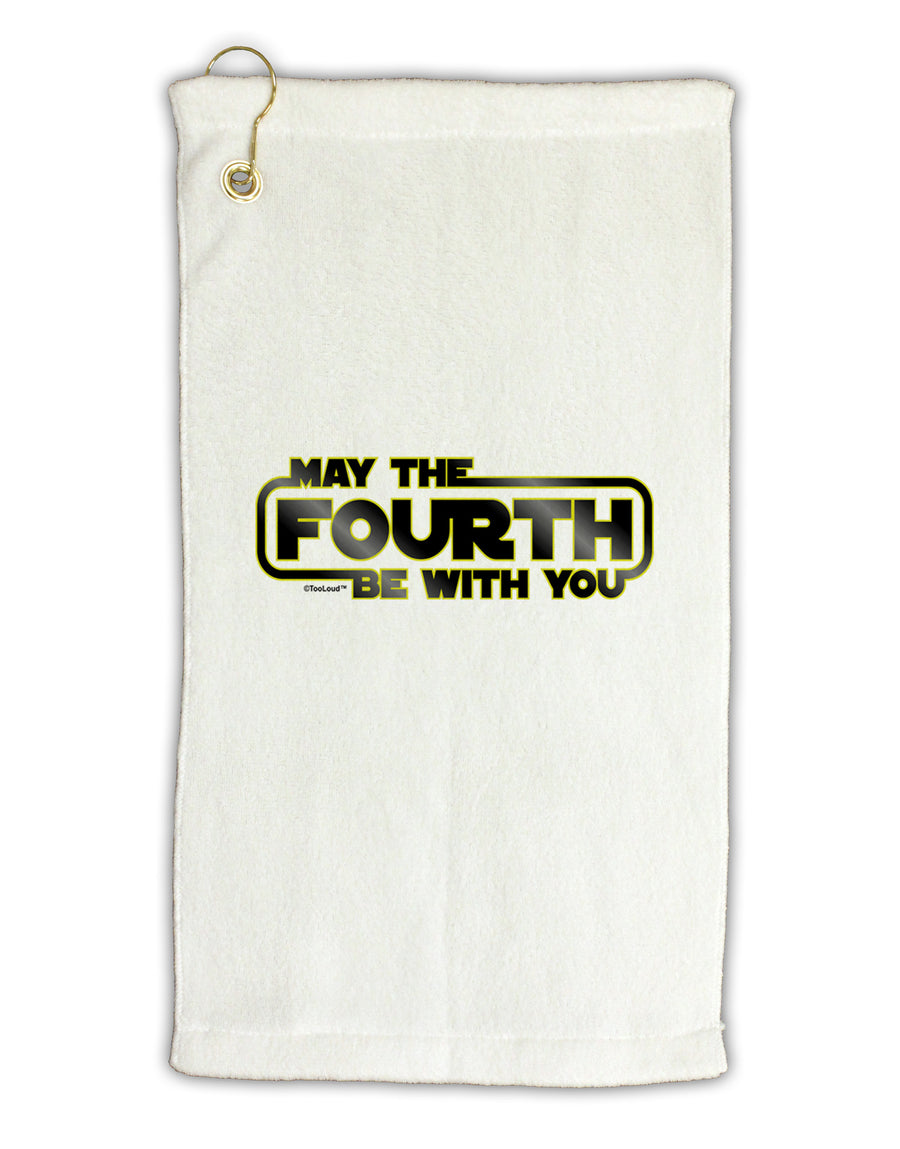May The Fourth Be With You Micro Terry Gromet Golf Towel 16 x 25 inch