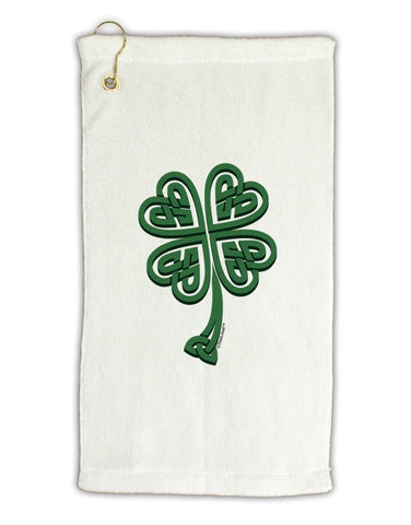 "3D Style Celtic Knot 4 Leaf Clover Micro Terry Gromet Golf Towel 11""x19"