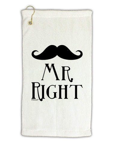 "- Mr Right Micro Terry Gromet Golf Towel 11""x19"