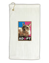 Adopt Cute Kitty Poster Micro Terry Gromet Golf Towel 16 x 25 inch