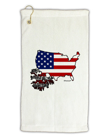 "American Roots Design - American Flag Micro Terry Gromet Golf Towel 11""x19 by TooLoud"